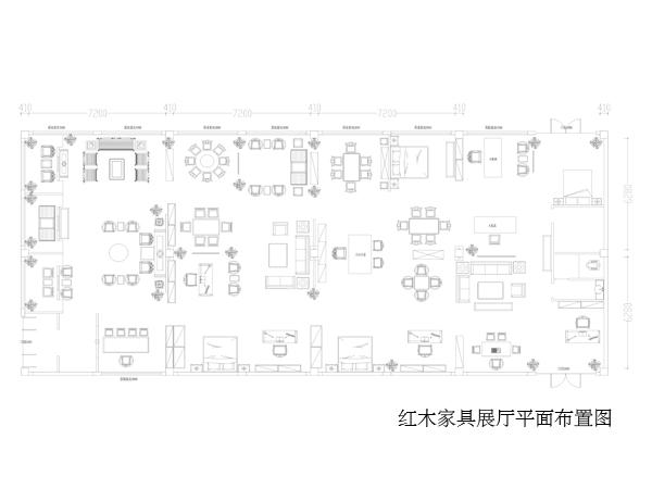 展廳中式裝修平面圖