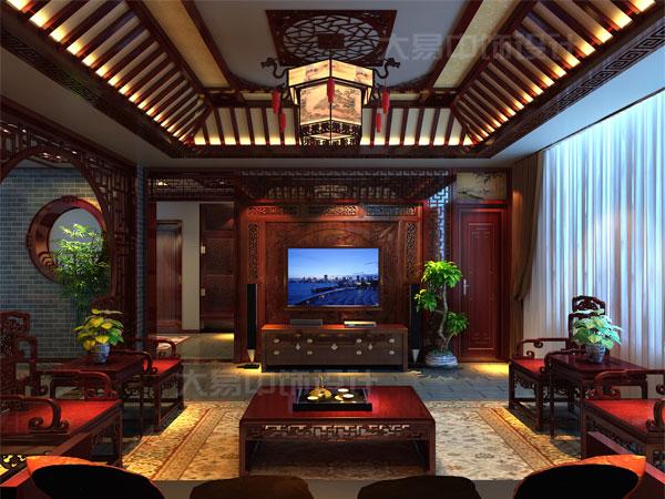 复式280平米中式设计,豪华中式别墅装修展现豪华大气之选