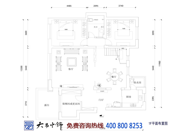 别墅中式设计平面图
