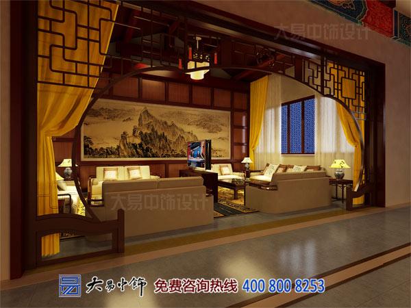 餐饮中式客厅装修