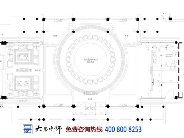 餐饮中式平面图