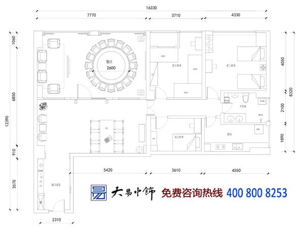 中式餐饮平面图设计