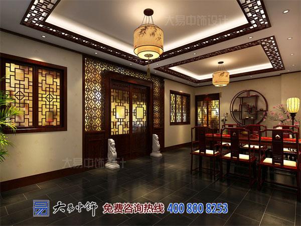 中式餐饮空间设计效果图 古典中式办公体验餐厅美味