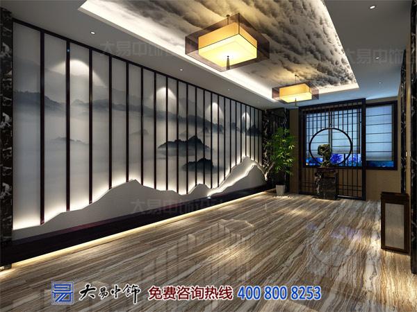 中式办公大厅空间装饰设计