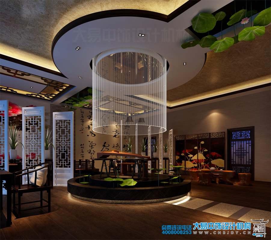 餐饮大包房中式设计