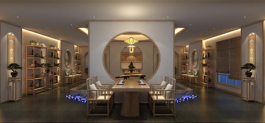 禅意中式古琴会馆设计效果图