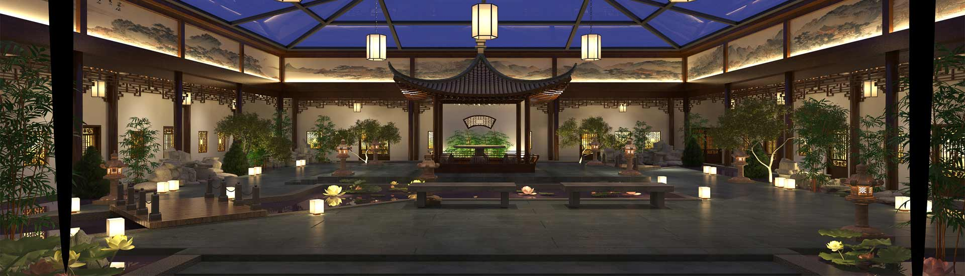 茶楼展厅中式设计效果图片