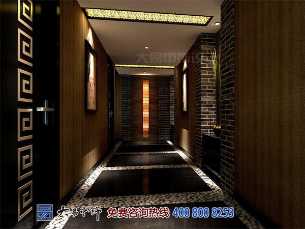 現代中式酒店走廊設計