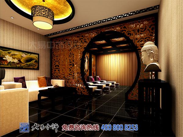 現代中式酒店客廳設計