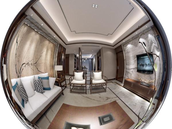 新中式客厅风格中式装修设计3D+VR图