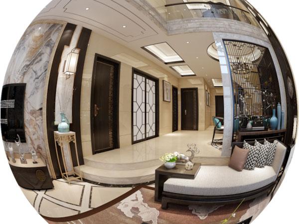 新中式别墅风格装修全景效果图