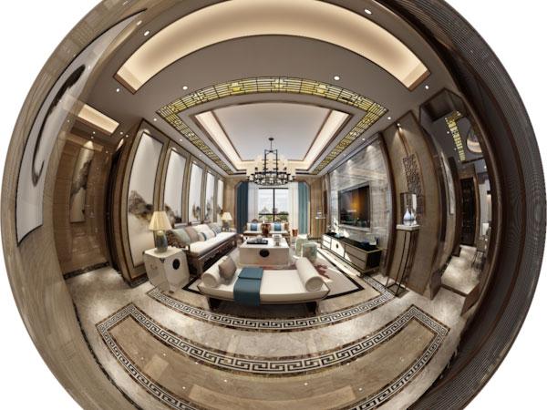新中式风格别墅设计室内装修VR全景效果图