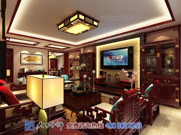 简约中式住宅装修客厅设计