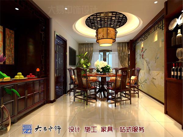 190平米中式住宅装修设计,玄关装修效果突围庄重大气