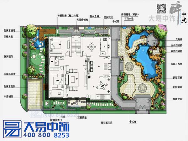 中式园林设计平面