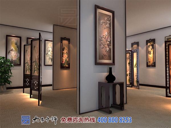 简约中式风格展厅装修,大气优雅空间之美