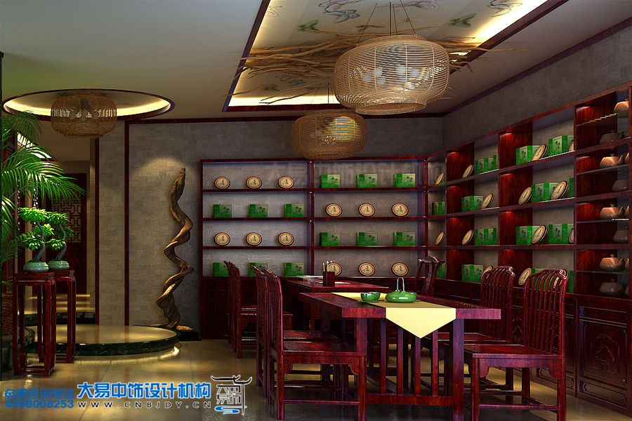 茶楼中式设计效果图