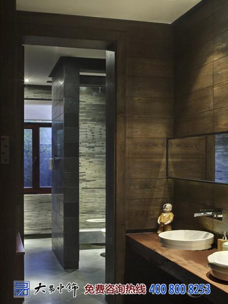 茶楼卫生间中式设计