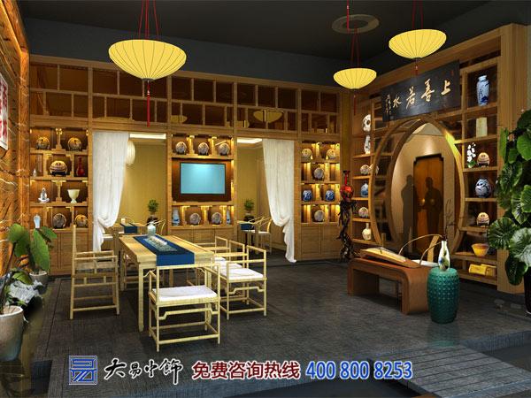 茶馆茶室中式设计
