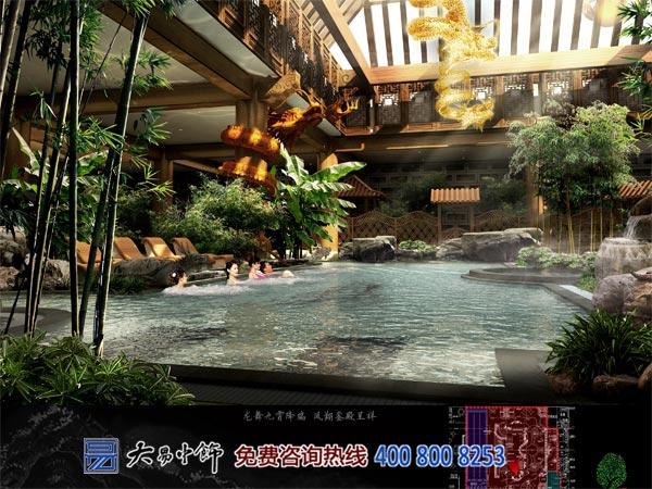 公共浴池中式設計