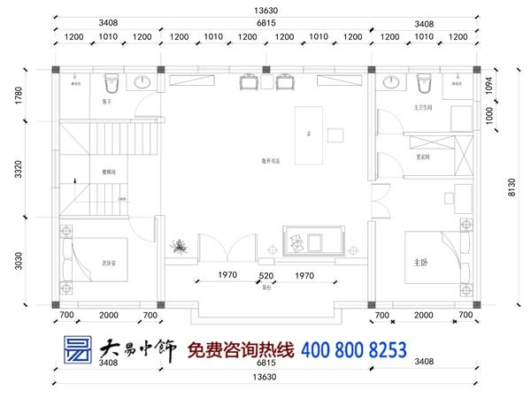 中式四合院设计平面图