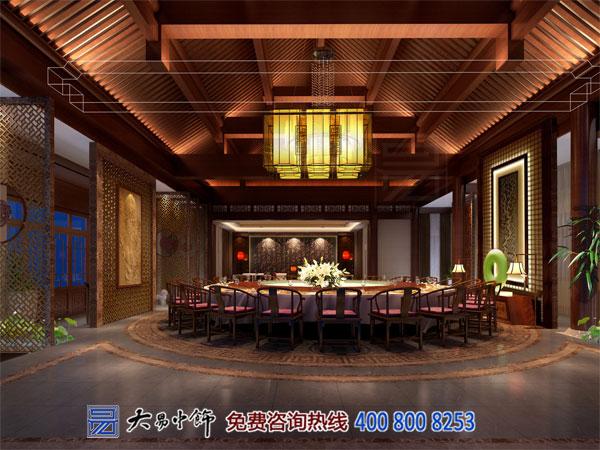 现代中式风格的餐饮会所装修淡雅布置光彩伊人