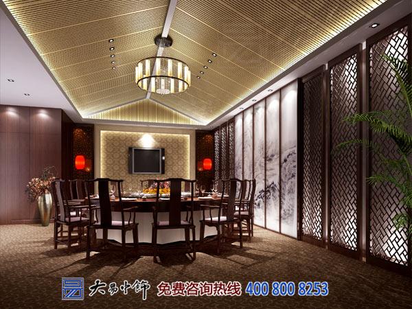 餐厅中式包间装修