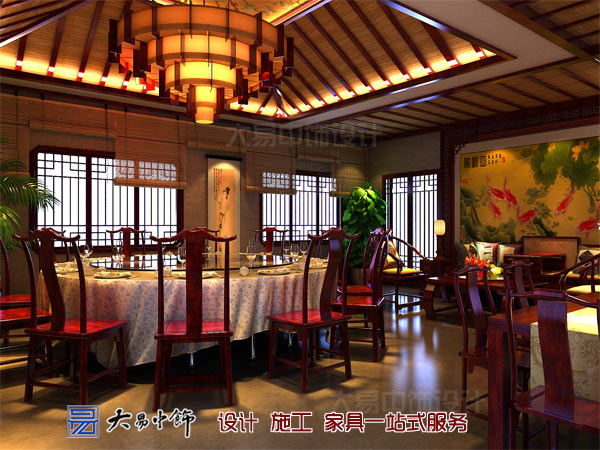 中式大包厅设计效果图