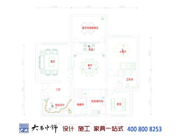 中式餐飲餐廳平面圖