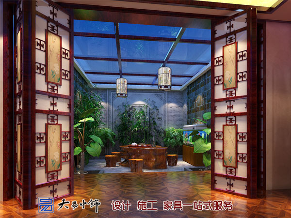550平米别墅设计中式装饰为你展示美的生活空间