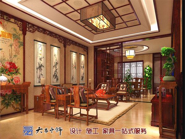 中式客厅装修背景墙设计