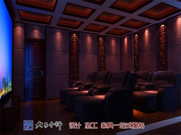 别墅影音室中式设计