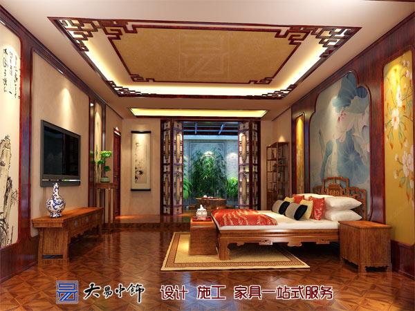 客卧室现代中式装修