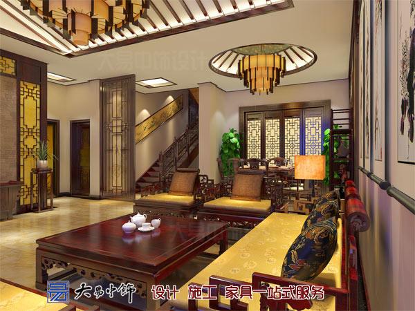客厅中式装饰布局