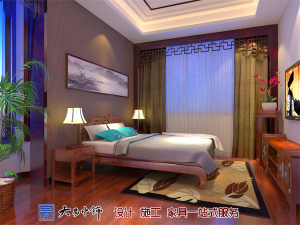 复式别墅跃层中式室内装修 不一样的睡眠享受