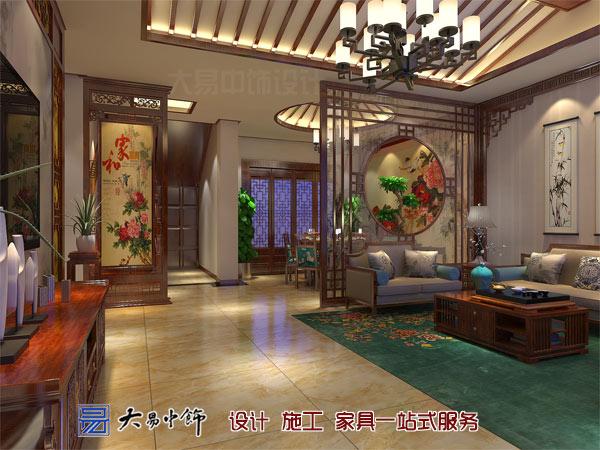 客厅过道中式风格装修