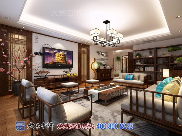 新中式别墅客厅装饰设计