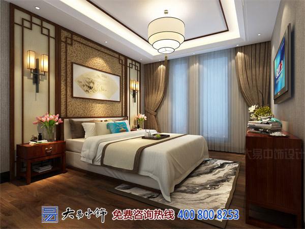 别墅卧室中式设计效果图