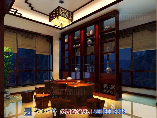 静谧的中式别墅茶室装修效果图
