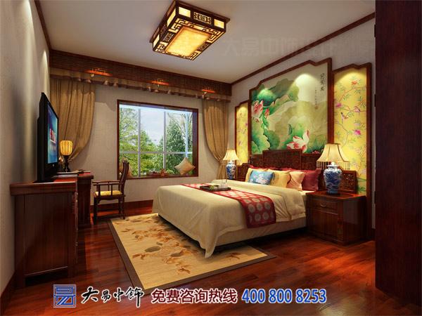 卧室中式装修别墅设计效果图案例