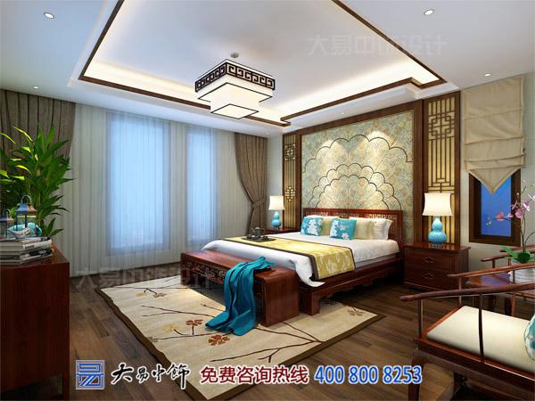 中式别墅装修主卧客房设计效果图