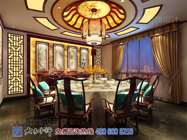 传统中式餐厅包房装修设计效果图