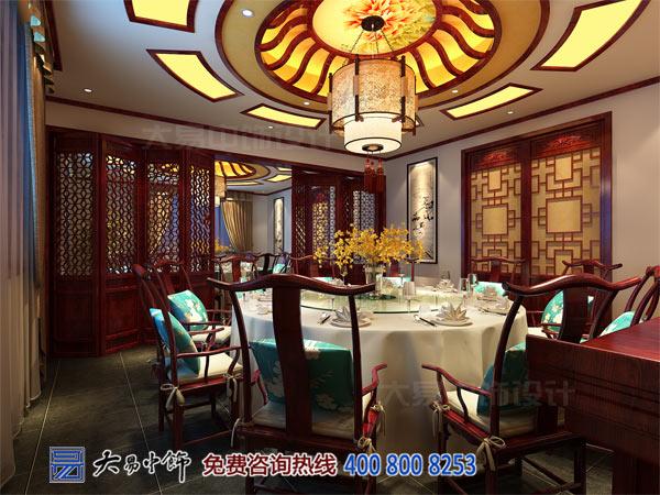 中式餐饮餐厅包房装修实景效果图