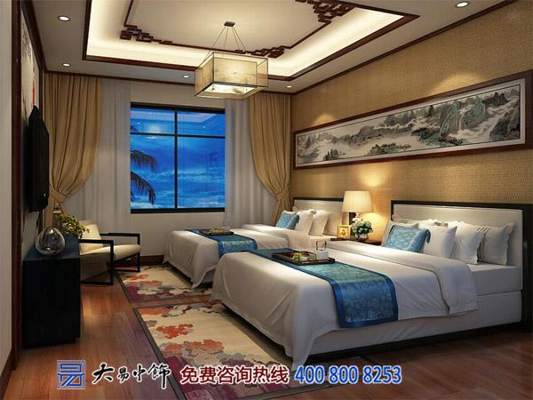 别墅中式卧室装修效果图案例