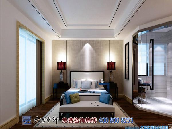 别墅卧室中式装修设计案例效果图