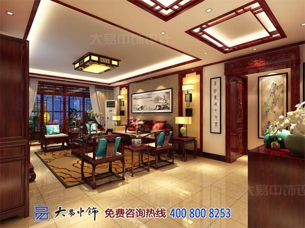 经典中式客厅设计效果图