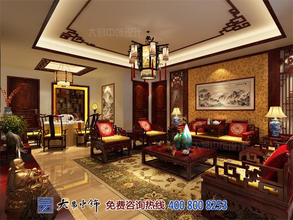 中式客厅设计住宅装修效果图