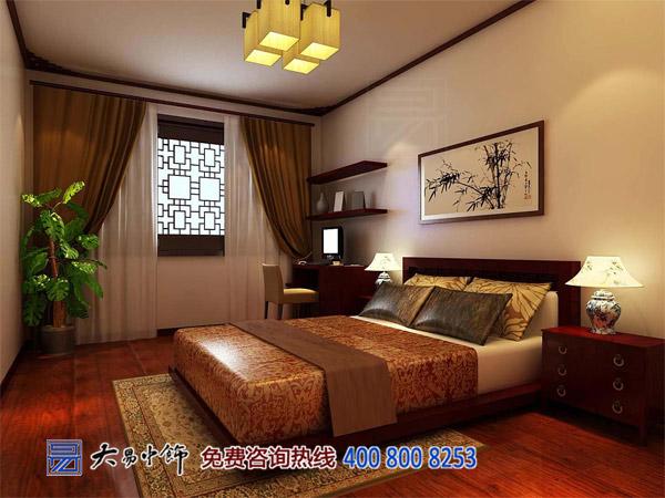 住宅卧室中式装饰效果图