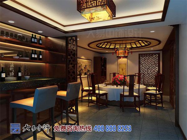 别墅大餐厅中式装修设计效果图
