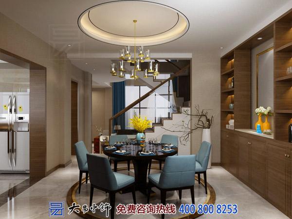 别墅新中式餐厅高台尖设计效果图